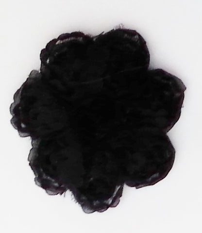 POPPET 37 Black Lace Flower