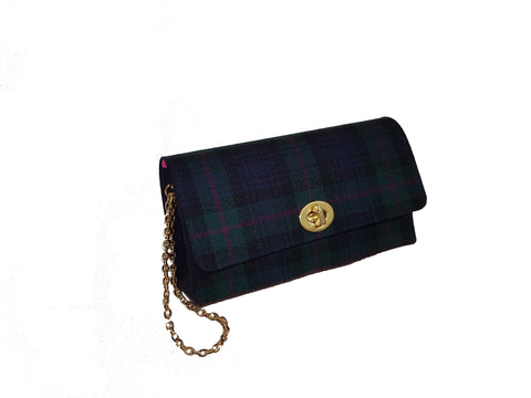 SCOTCH BROOM Petite Wool Plaid Clutch
