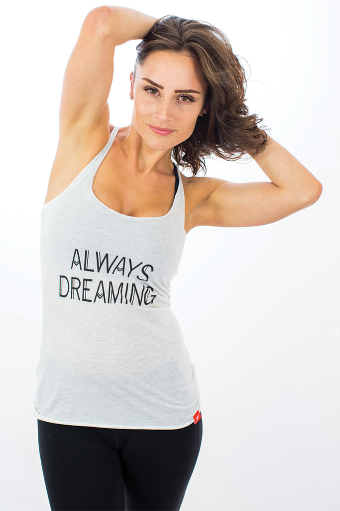 Dream Racerback Tank Willow