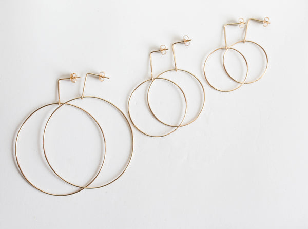 Crow and Stone Hoops