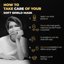 Load image into Gallery viewer, Padat Soft Shield Mask Set Of 4