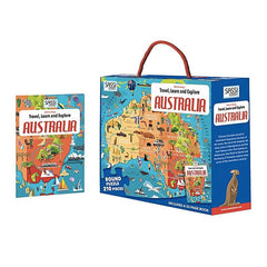 Australian map puzzle for kids