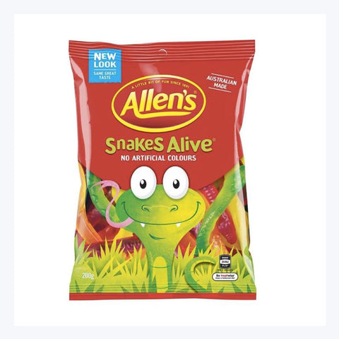 classic aussie treat allens snakes alive