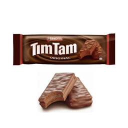 Classic Aussie Treat to UK chocolate tim tam biscuits