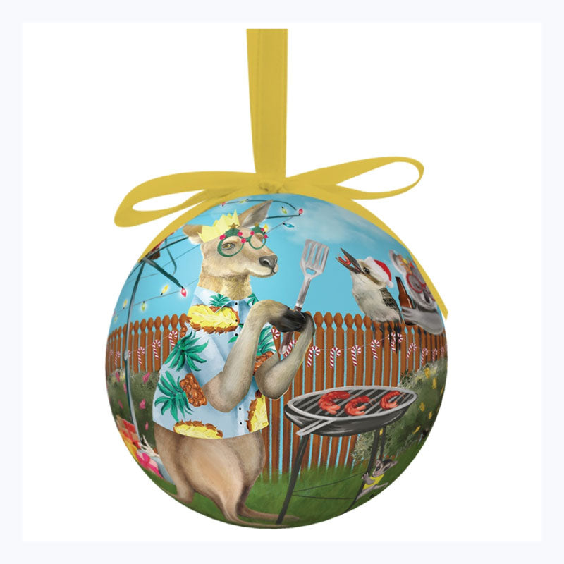 Australian Xmas Bauble Single Festive Holidays
