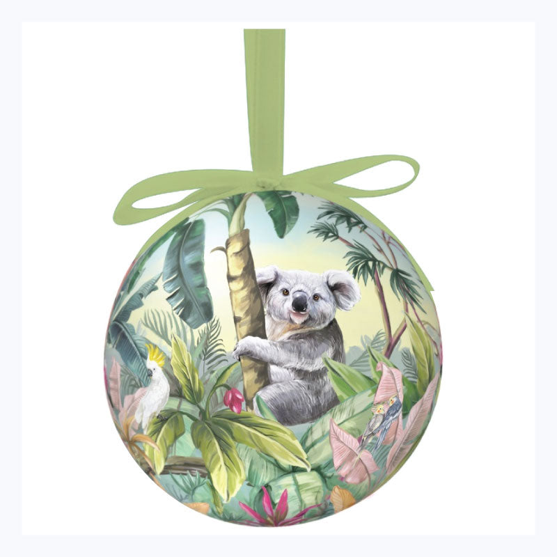 Australian xmas bauble single nature dwellings tropical