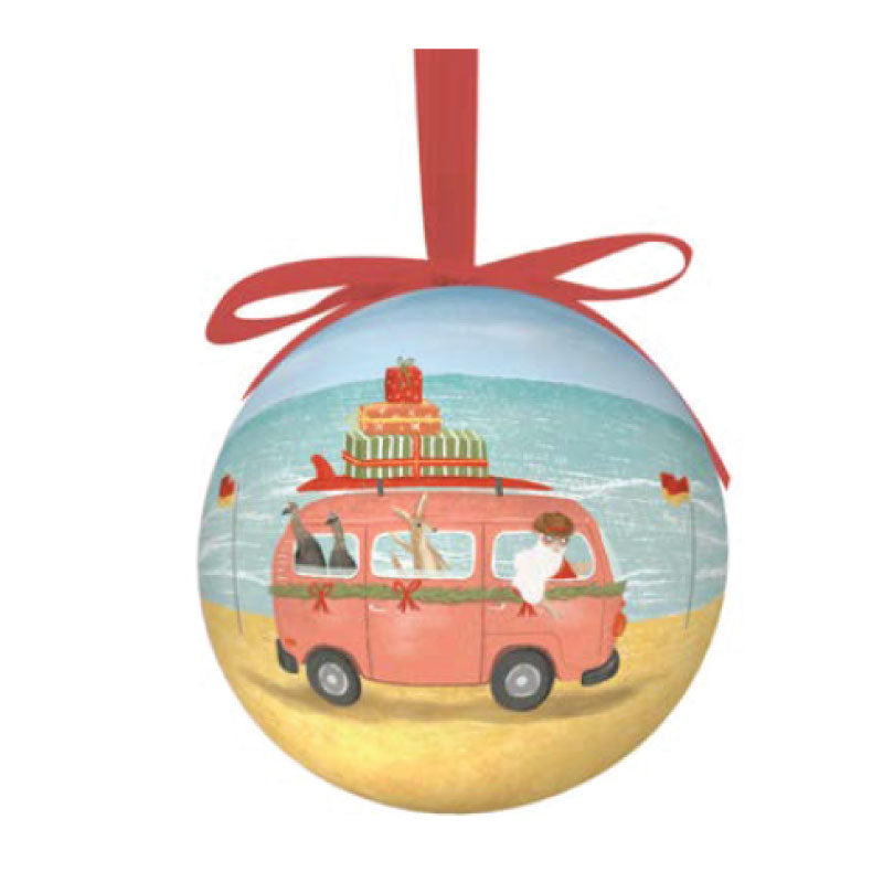 Aussie Xmas Single Bauble - Travels