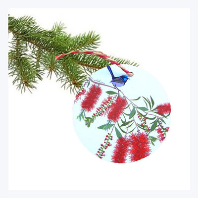 Australian-Christmas-Decoration-Blue-Wren