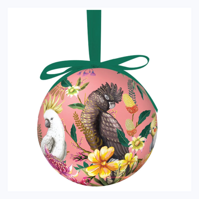 Australian Xmas Bauble Single - Floral Pardiso