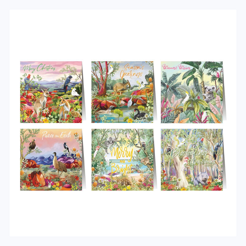 Australian christmas greeting card set nature dwellings
