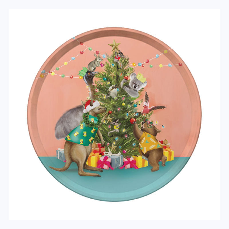 Australian christmas tray festive holiday tree