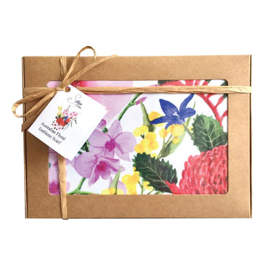 Australian-flowers-scarf-gift-box-floral-state-emblems