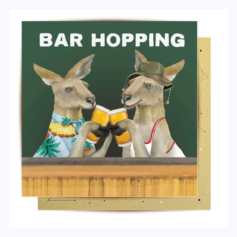 Greeting Card - Bar Hopping