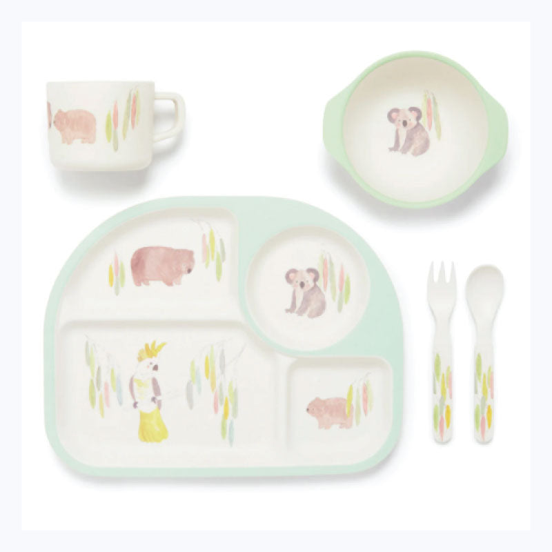 baby dining set australian animals