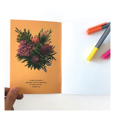 Banksia-Flower-explosion-Notebook-Studio-Ka-Ka-inside