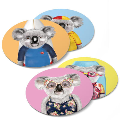 Beach Koalas Coasters