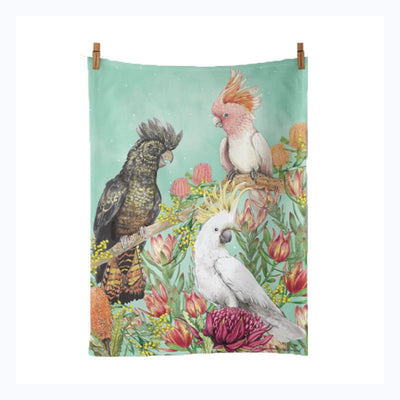 Australian Birds Tea Towel