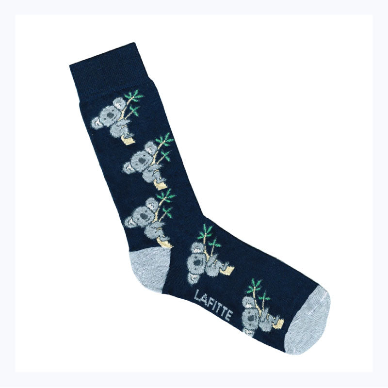 cute koala socks navy