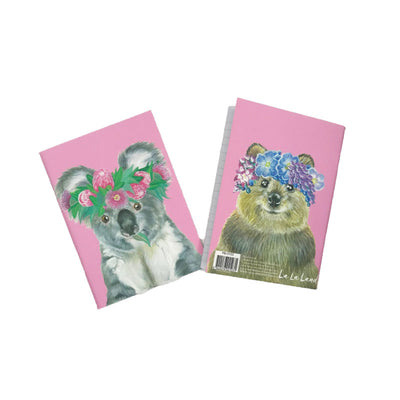 Flora-koala-notebook-front-and-back-view