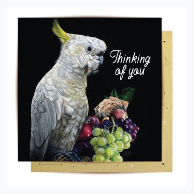 Greeting Card Thinking of you cockatoo