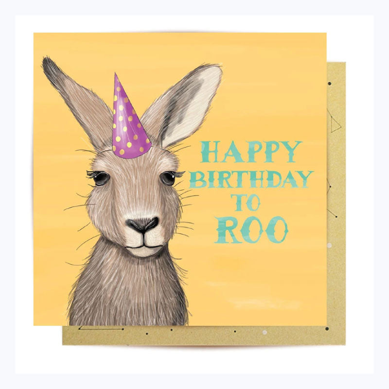 Greeting Card Happy Birthday to Roo