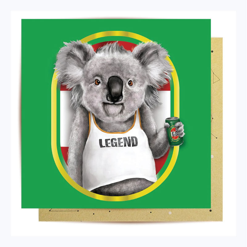 Greeting-card-koala-legend-front-view