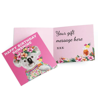 Australian koala birthday card