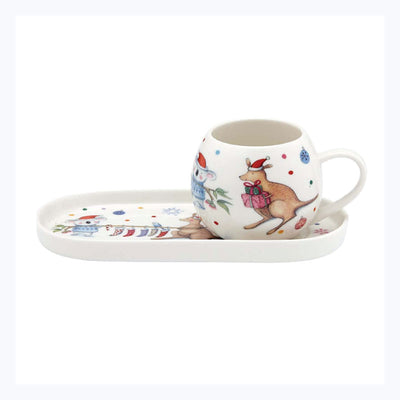Hoppity-Kangaroo-Christmas-mug-and-tray-set