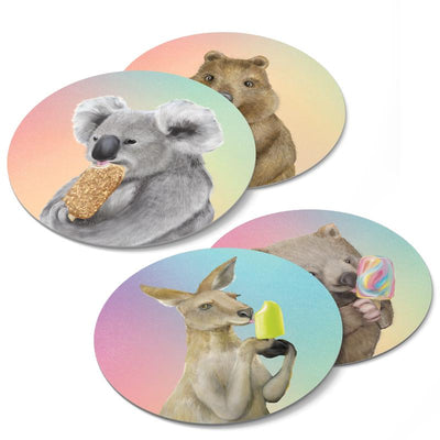 Ice Cream Critters Coasters