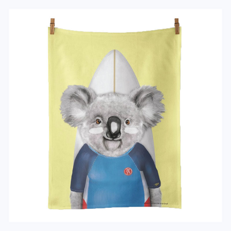 Koala-Surfer-Tea-Towel