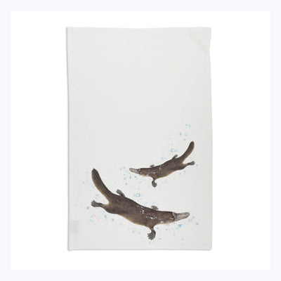 Platypus-tea-towel-souvenir-white