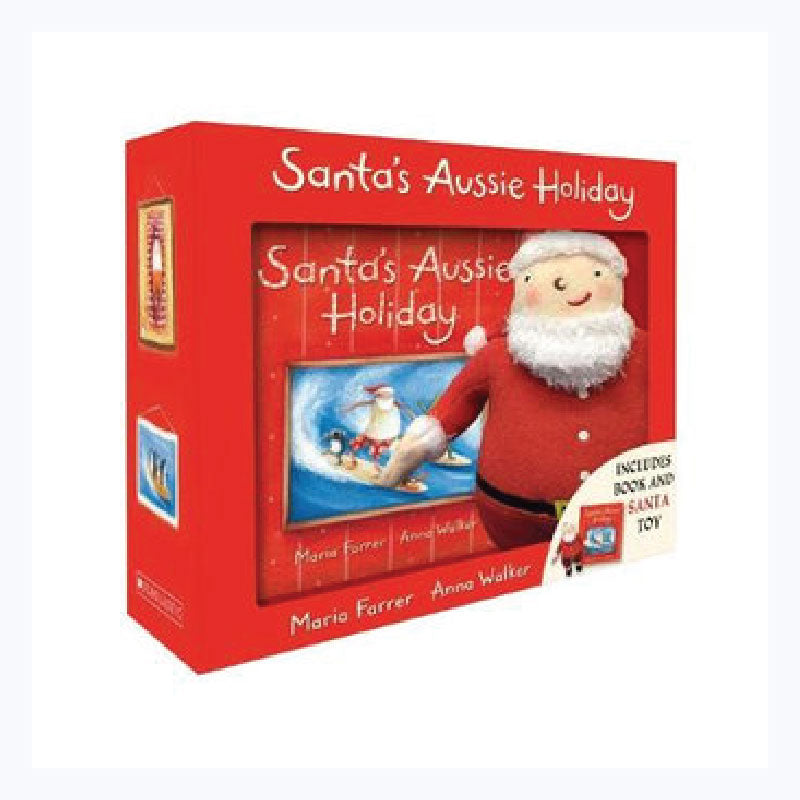 santas aussie holiday gift set book and toy