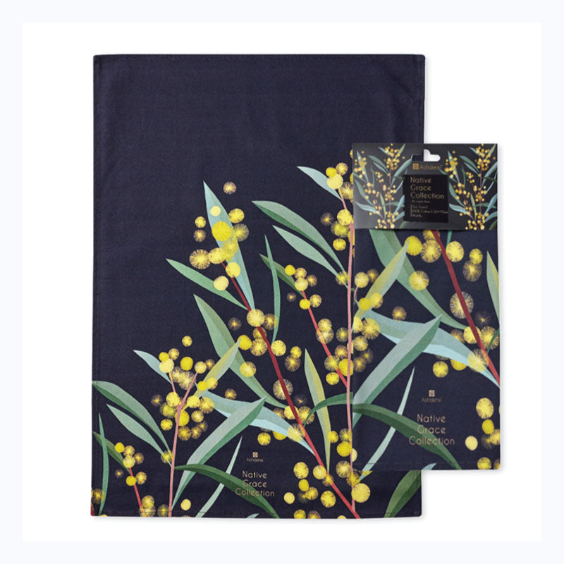 tea towel wattle native grace collection