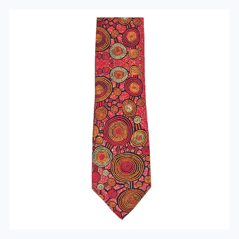 Teddy-Gibson-Silk-Tie-Warlukurlangu-aboriginal-artists