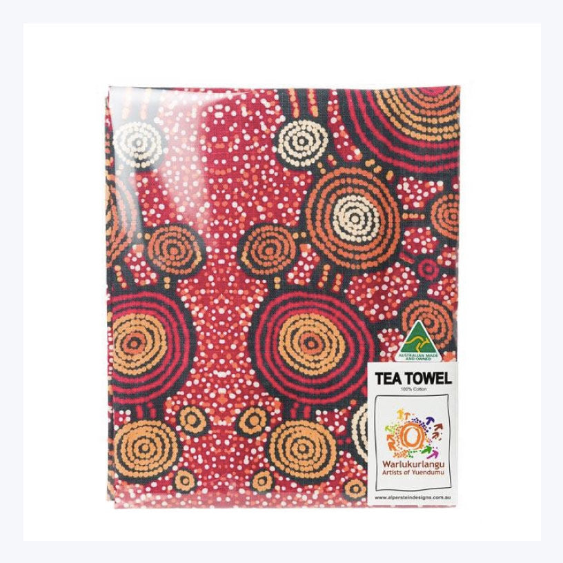 Teddy-Gibson-tea-towel-aboriginal-design-made-in-australia