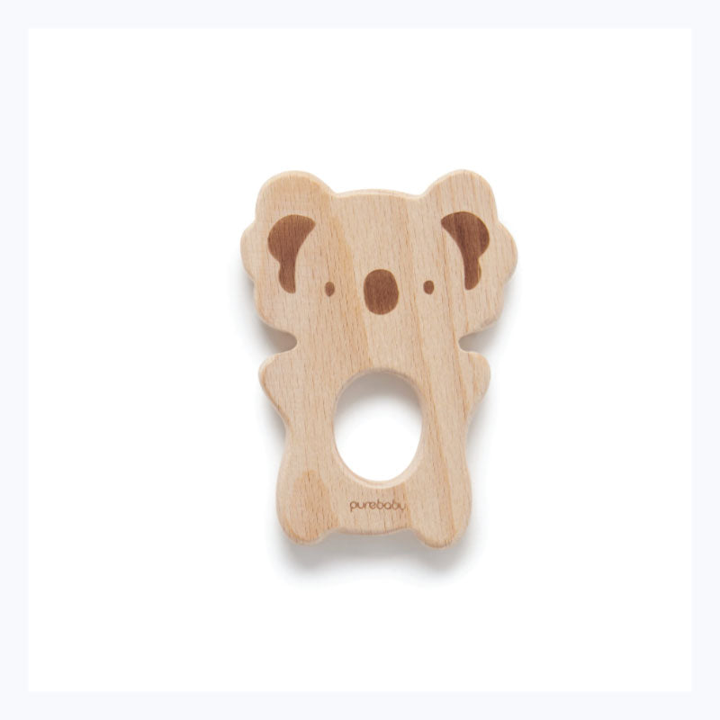 Teether wooden koala australian baby gift