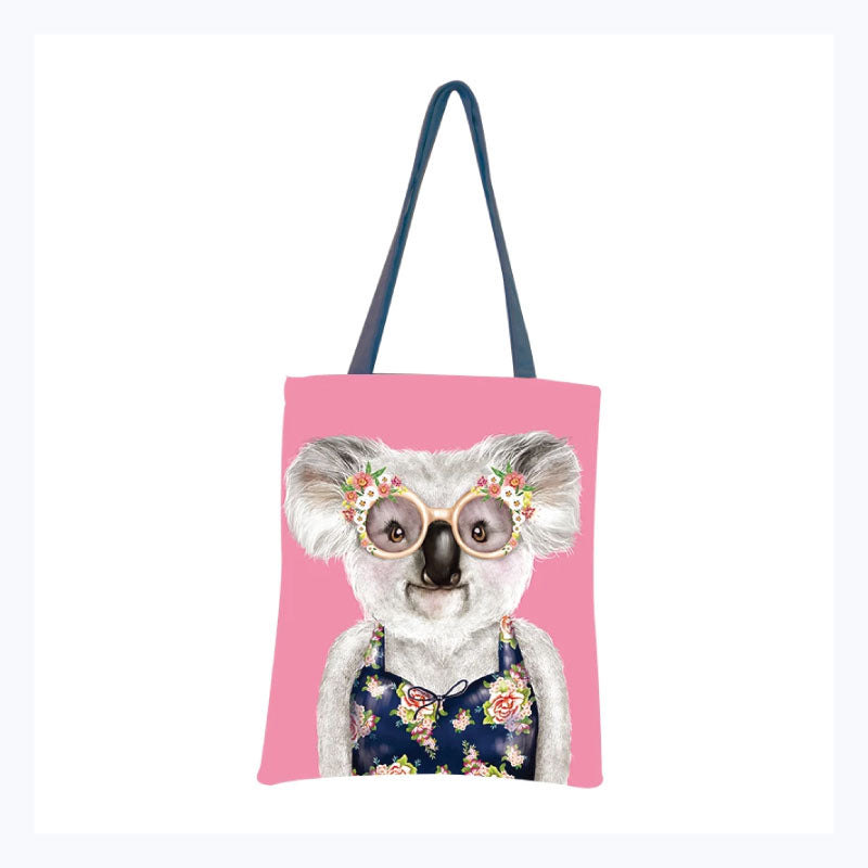 tote bag koala sunshine bather pink