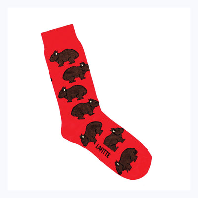 WOMBAT-socks-red-lafitte