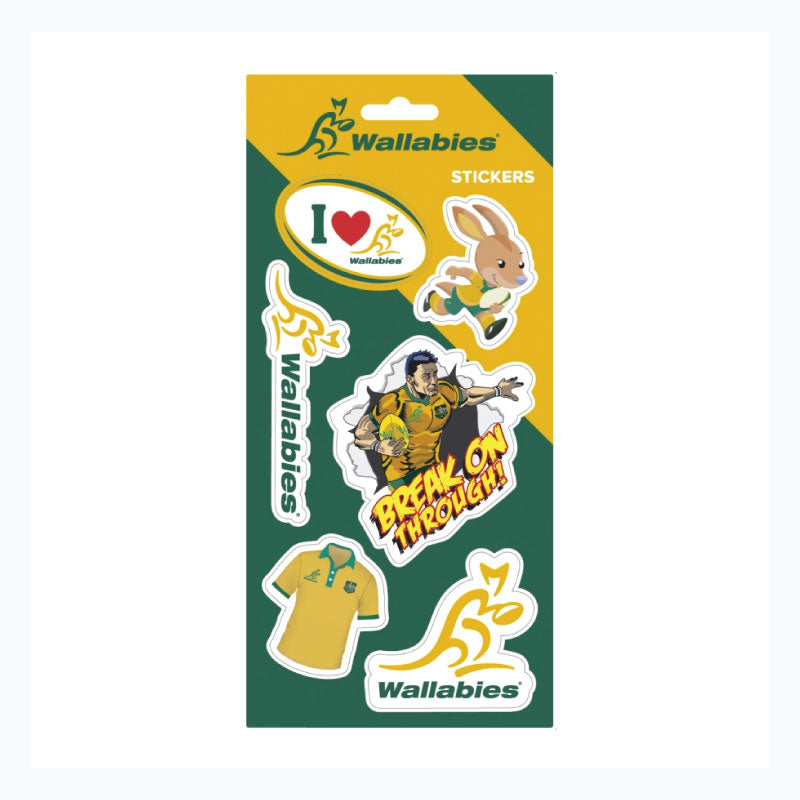 Wallabies sticker sheet rugby australia official product