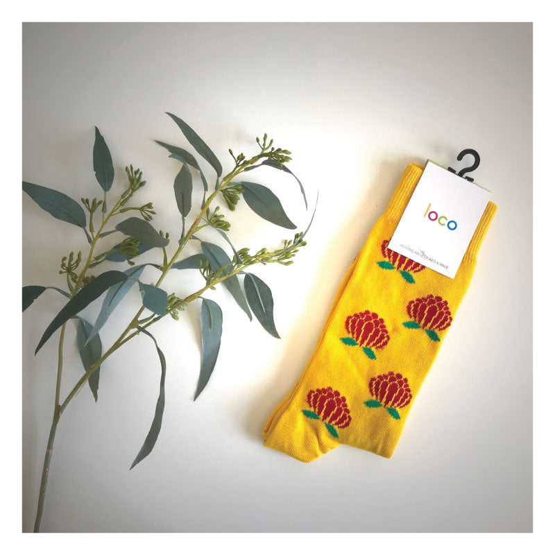 Waratah-Socks-gold