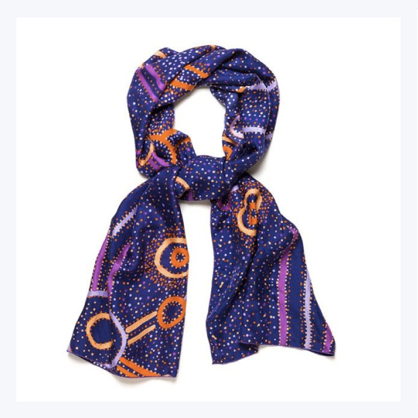Aboriginal Silk Scarves
