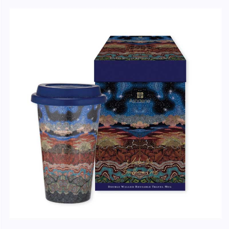 aboriginal travel mug southern cross garry purchase