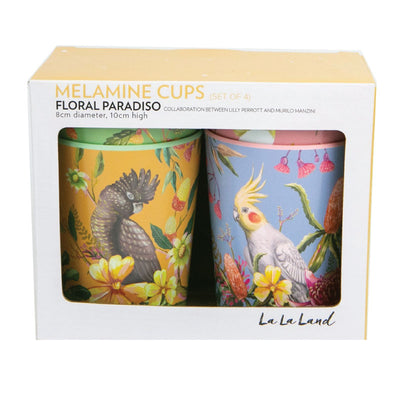 australian birds bright cup set