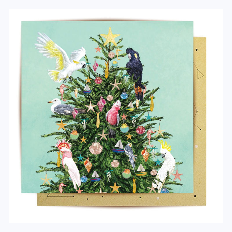 Australian Xmas Card (single) - Coastal Christmas Tree