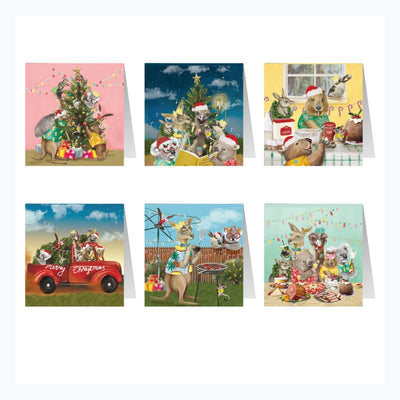 australian christmas card set festive holidays