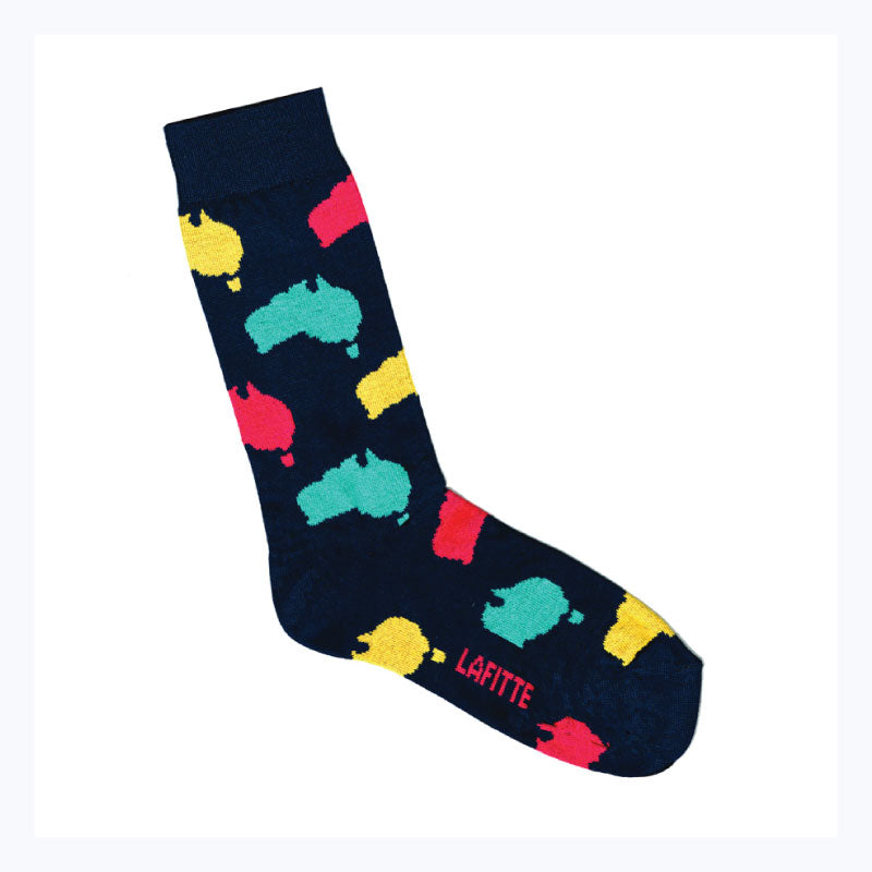 australian-maps-socks-navy-lafitte