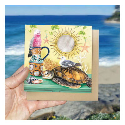 australian sea animals christmas card set