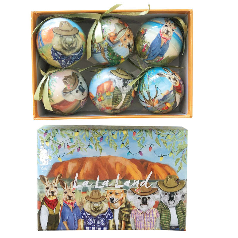 Australian Christmas Bauble Set Sunny Outback