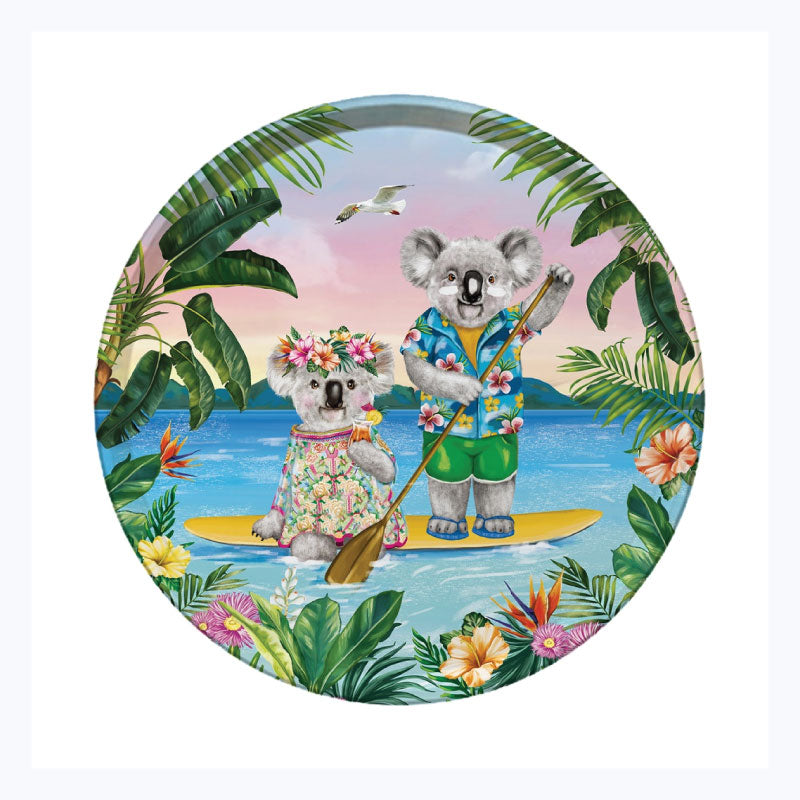 Australian Xmas Tray - Koala Lovers Paddle