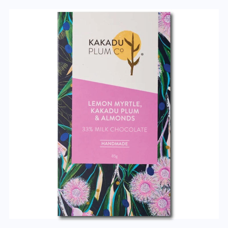 chocolate bar kakadu plum lemon myrtle almonds